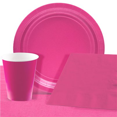 Hot Pink Party Pack For 8 People - Value Pack For 8