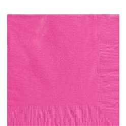 Hot Pink Luncheon Napkins - 33cm Square 2ply Paper