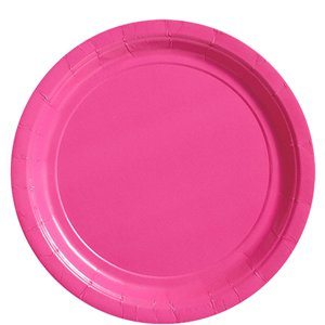 Hot Pink Paper Plates - 23cm