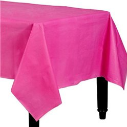 Hot Pink Plastic Tablecover - 1.4m x 2.8m