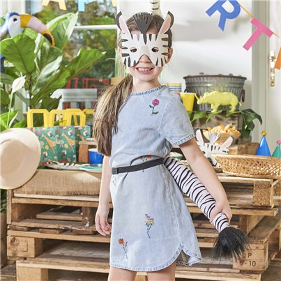 Party Animals Fabric Dress-Up Zebra Tail