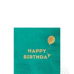 Birthday Brights paper Cocktail Napkins - 25cm