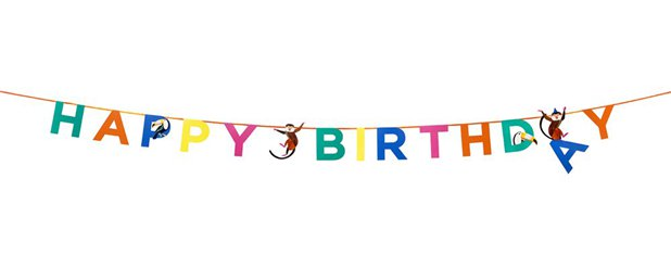 Party Animals Birthday Garland - 3.5m