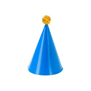 Birthday Brights Cone Hats with Pom Pom