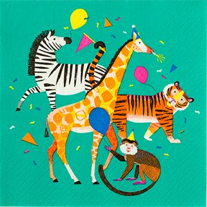 Party Animals Paper Napkins - 33cm