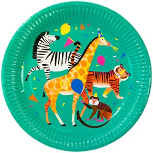 Party Animals Paper Plates - 23cm