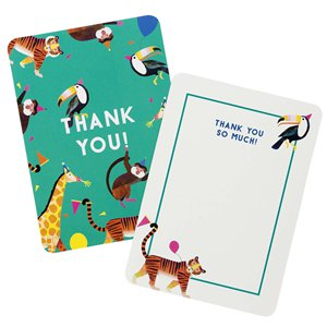 Party Animals Thank You Cards - A6 Includes Envelopes