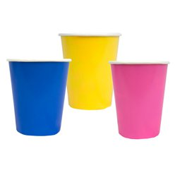 Birthday Brights paper Cups - 250ml