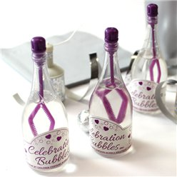 Champagne Wedding Bubbles - Purple