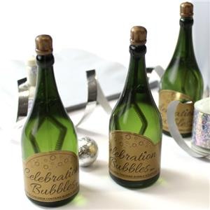 Champagne Wedding Bubbles - Green