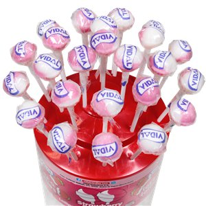 Strawberry & Cream Flavour Lollipops - 150pk