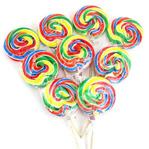 Rainbow Swirl Fruit Flavour Lollipops - 30pk