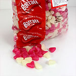Pink & White Jelly Bean Hearts - 3kg