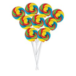 Rainbow Mini Swirl Fruit Flavour Lollipops - 50pk