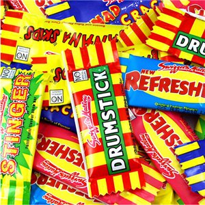 Swizzels Assorted Mini Me Chews 1kg Bulk Bag