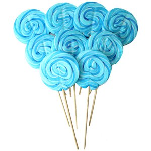 Blue Swirl Raspberry Flavour Lollipops - 30pk
