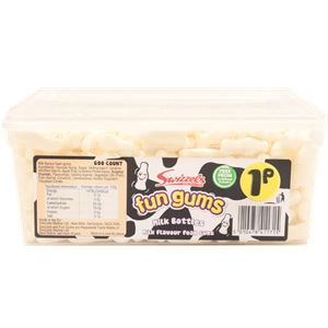 Fun Gums Milk Bottles Tub