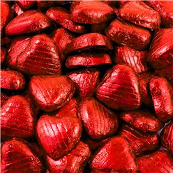 Red Foil Chocolate Hearts - Bulk Pack