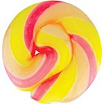 Yellow & Pink Mini Swirl Lollipops - Ice Cream 5cm