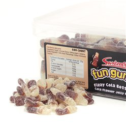 Swizzels Fun Gums Fizzy Cola Bottles Tub