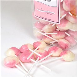 Mashmallow Pink Lolly Jar - Bulk Sweets