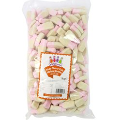 Fizzy Cherry Cola Marshmallow Bottles 1kg Bulk Bag