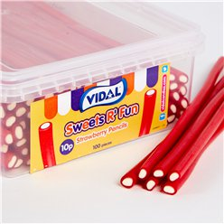 Vidal Strawberry Pencils Tub