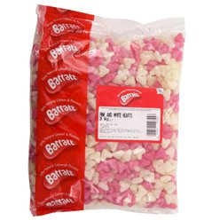 Pink & White Jelly Love Hearts 3kg Bulk Bag