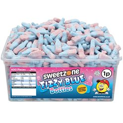 Sweetzone Halal Fizzy Blue Bottles Tub