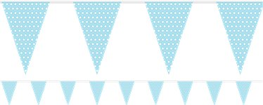 Baby Blue Polka Dot Bunting - Paper 1.7m