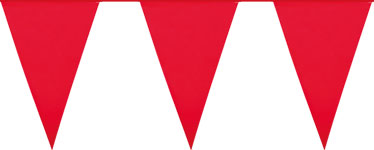 Giant Red Plastic Bunting - 10m