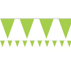 Lime Green Paper Bunting - 4.5m