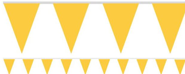 Yellow Paper Bunting - 4.5m