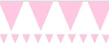 New Pink Paper Bunting - 4.5m