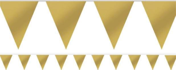 Gold Paper Bunting - 4.5m