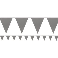 Silver Paper Bunting - 4.5m