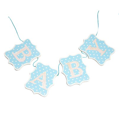 Blue Wooden Baby Bunting - 60cm