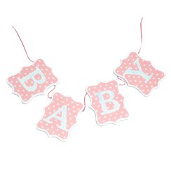 Pink Wooden Baby Bunting - 60cm