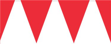 Red Plastic Bunting - 10m