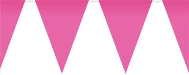 Bright Pink Plastic Bunting - 10m
