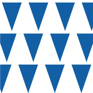 Royal Blue Plastic Bunting - 10m