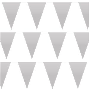 Silver Plastic Bunting - 10m