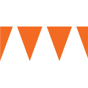 Orange Plastic Bunting - 10m
