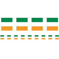 Irish Flag Bunting - 3m