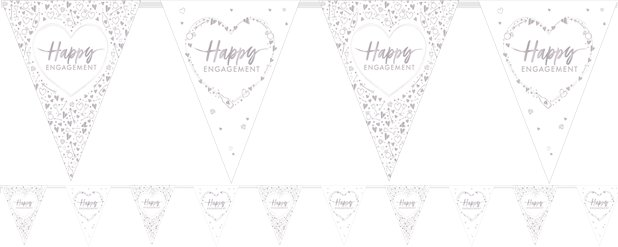Engagement Flag Bunting - 3.7m