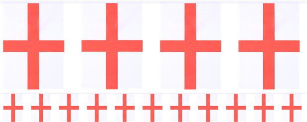 England Large Fabric Flag Bunting - 5m