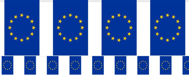 European Union Fabric Flag Bunting - 6m