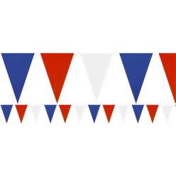 Red, White & Blue Plastic Bunting - 7m