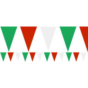 Red, White & Green Plastic Bunting – 9m