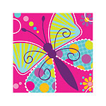 Butterfly Sparkle Beverage Napkins - 3ply Paper